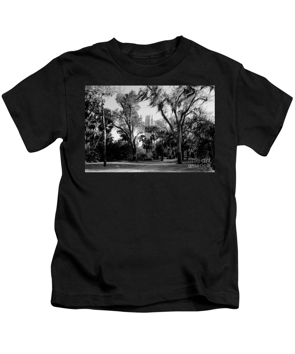 Bok Tower Kids T-Shirt featuring the photograph Ghostly Bok Tower by David Lee Thompson