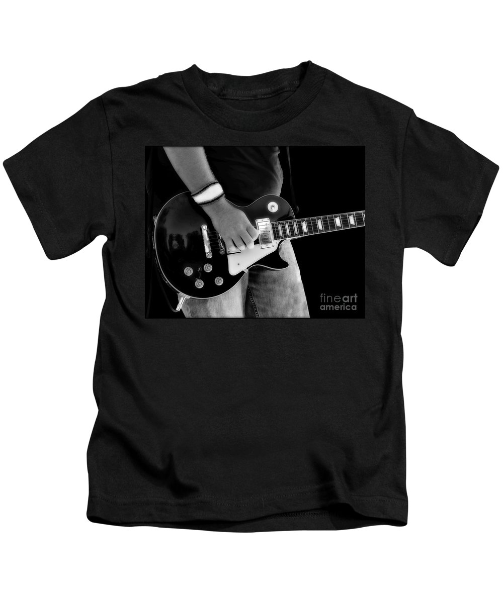 Gibson Kids T-Shirt featuring the photograph Gibson Les Paul Guitar by Randy Steele