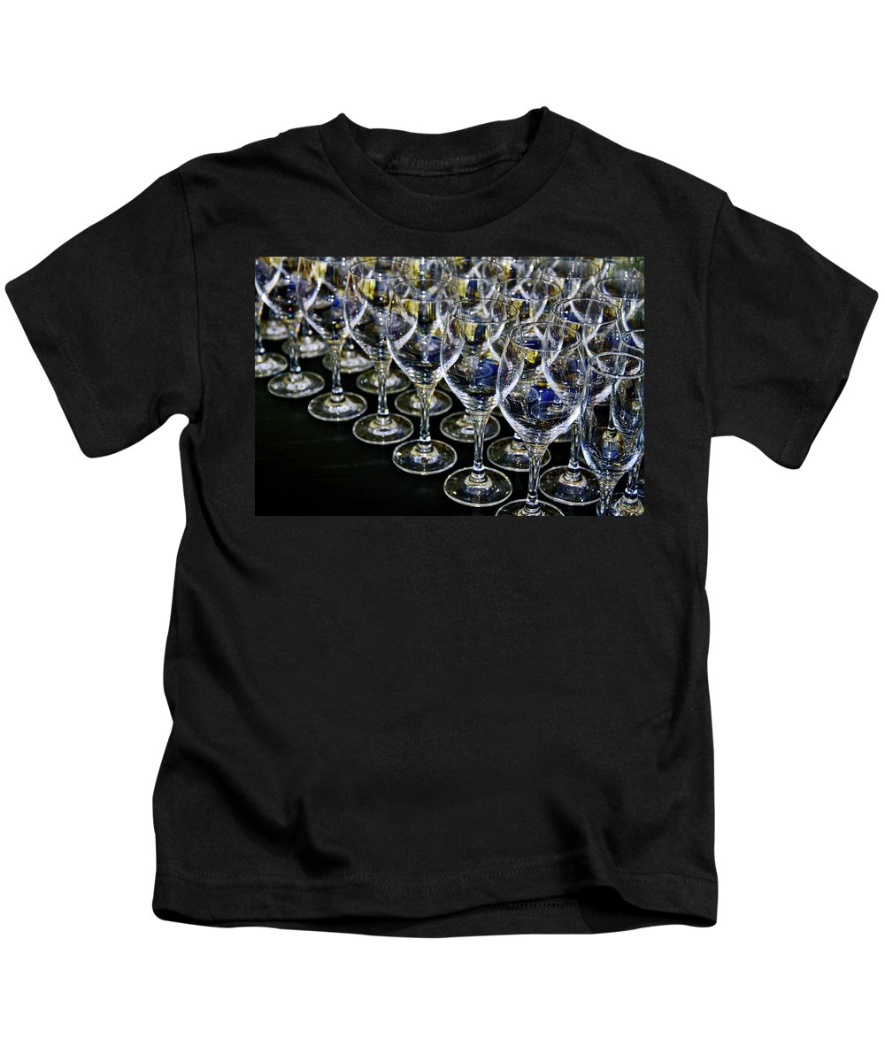 Flute Kids T-Shirt featuring the photograph Glass Soldiers by Stephen Mitchell