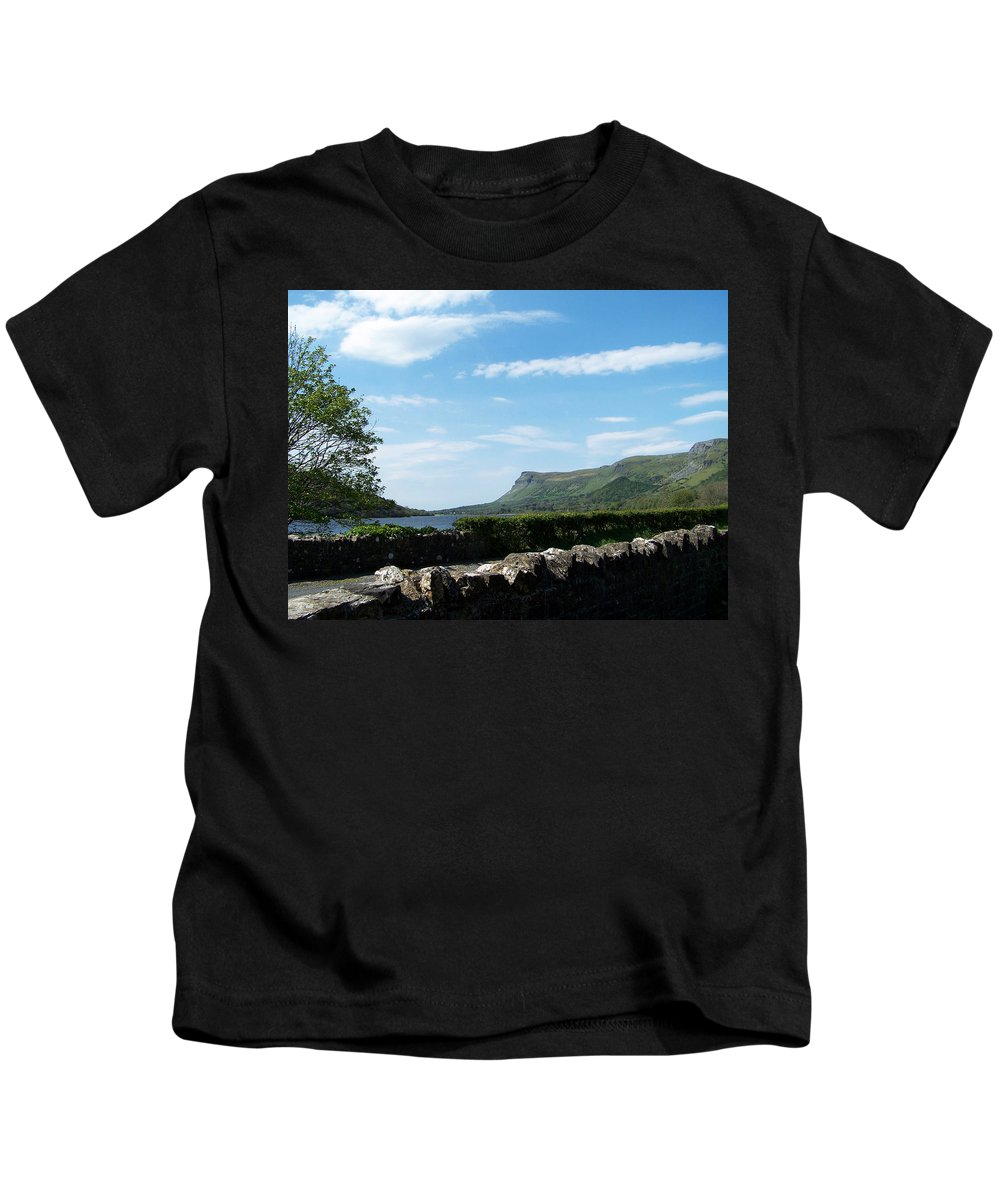 Irish Kids T-Shirt featuring the photograph Glencar Lake With View Of Benbulben Ireland by Teresa Mucha