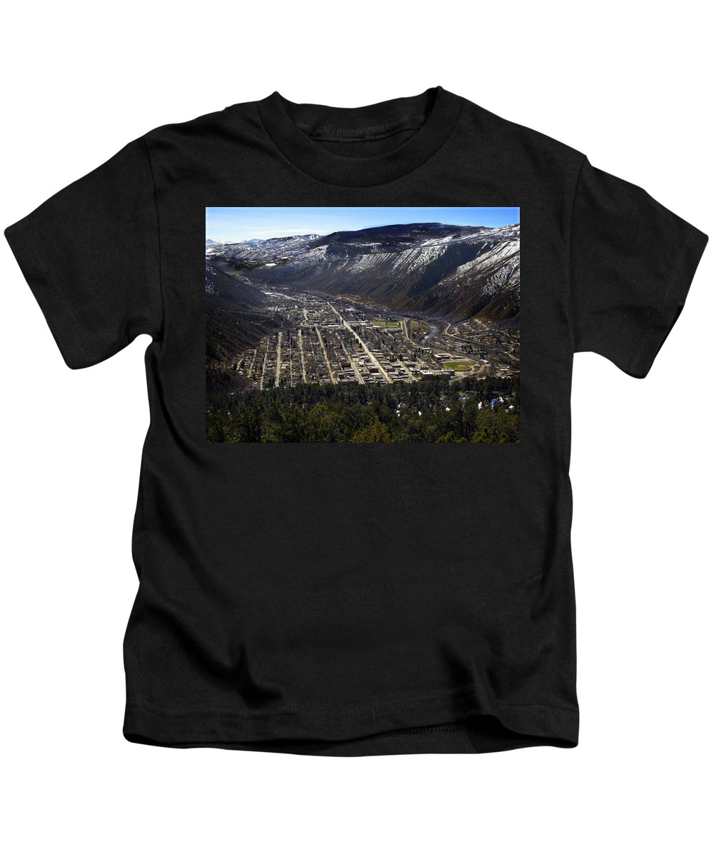 City Kids T-Shirt featuring the photograph Glenwood Springs Canyon by Marilyn Hunt