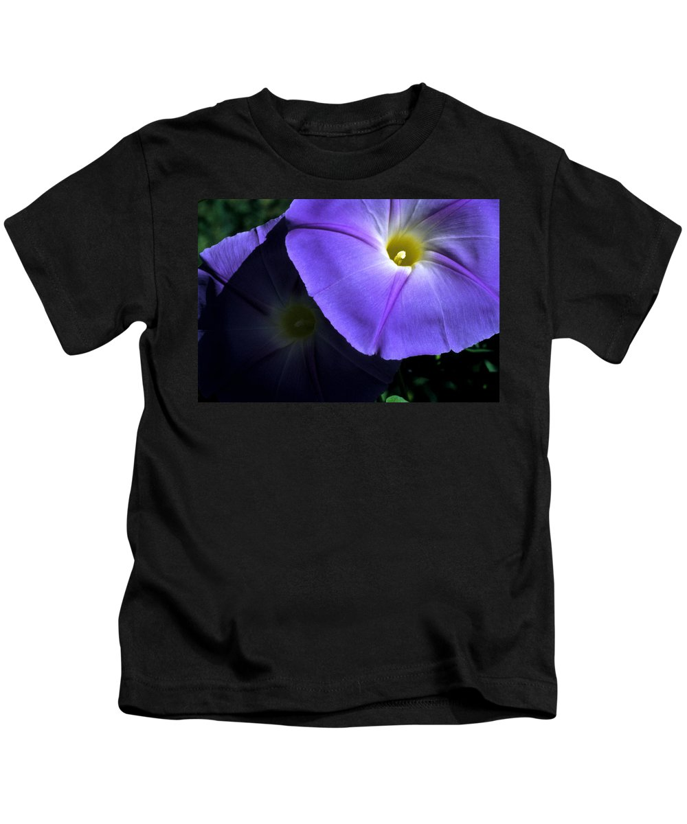 Morning Glory Kids T-Shirt featuring the photograph Glory In The Morning by Jerry McElroy