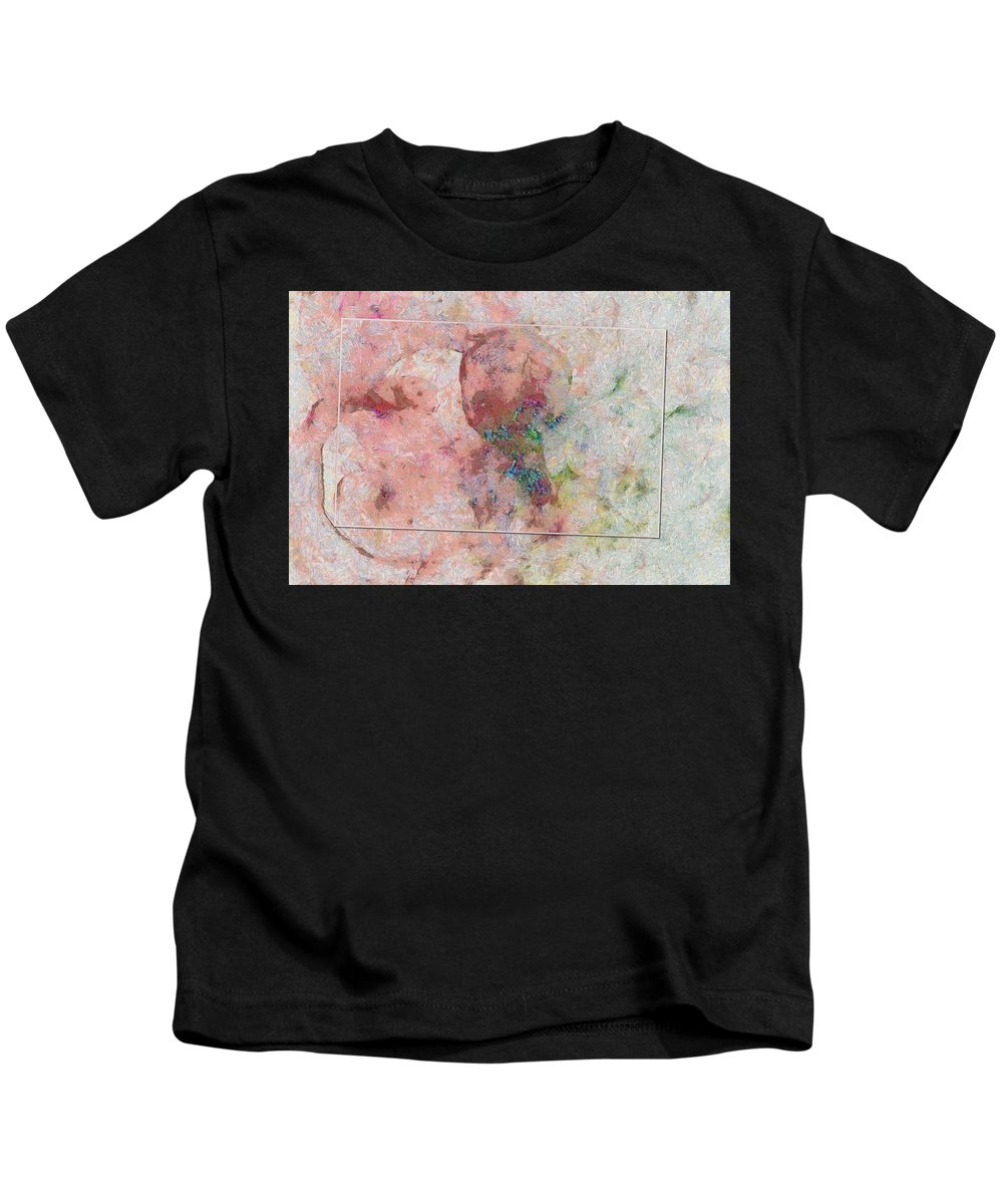 Illusory Kids T-Shirt featuring the painting Godawful Tissue Id 16099-041745-08831 by S Lurk