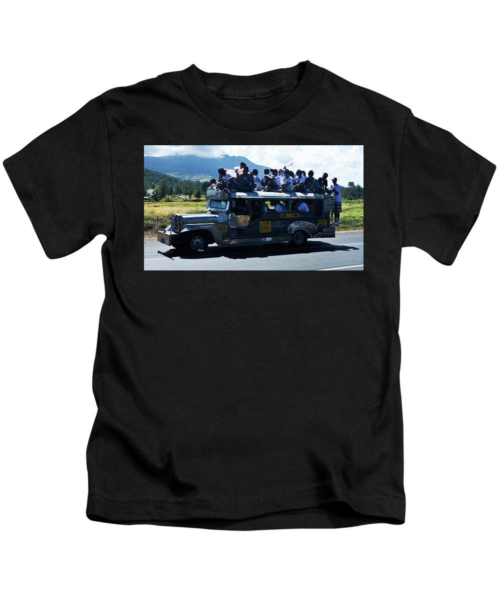Philippines Kids T-Shirt featuring the photograph Going To A Protest by Betsy Knapp