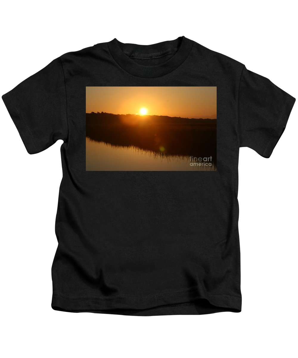 Glow Kids T-Shirt featuring the photograph Gold Morning by Nadine Rippelmeyer