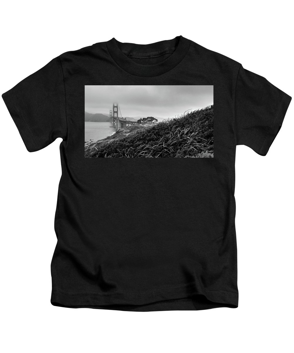 Battery Godfrey Kids T-Shirt featuring the photograph Golden Gate From Godfrey by The Camera Junkies