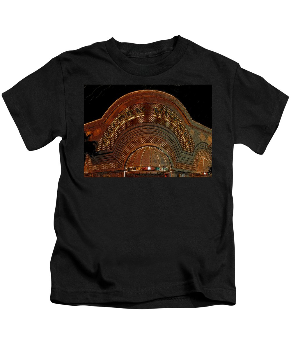 Art Kids T-Shirt featuring the painting Golden Nugget by David Lee Thompson