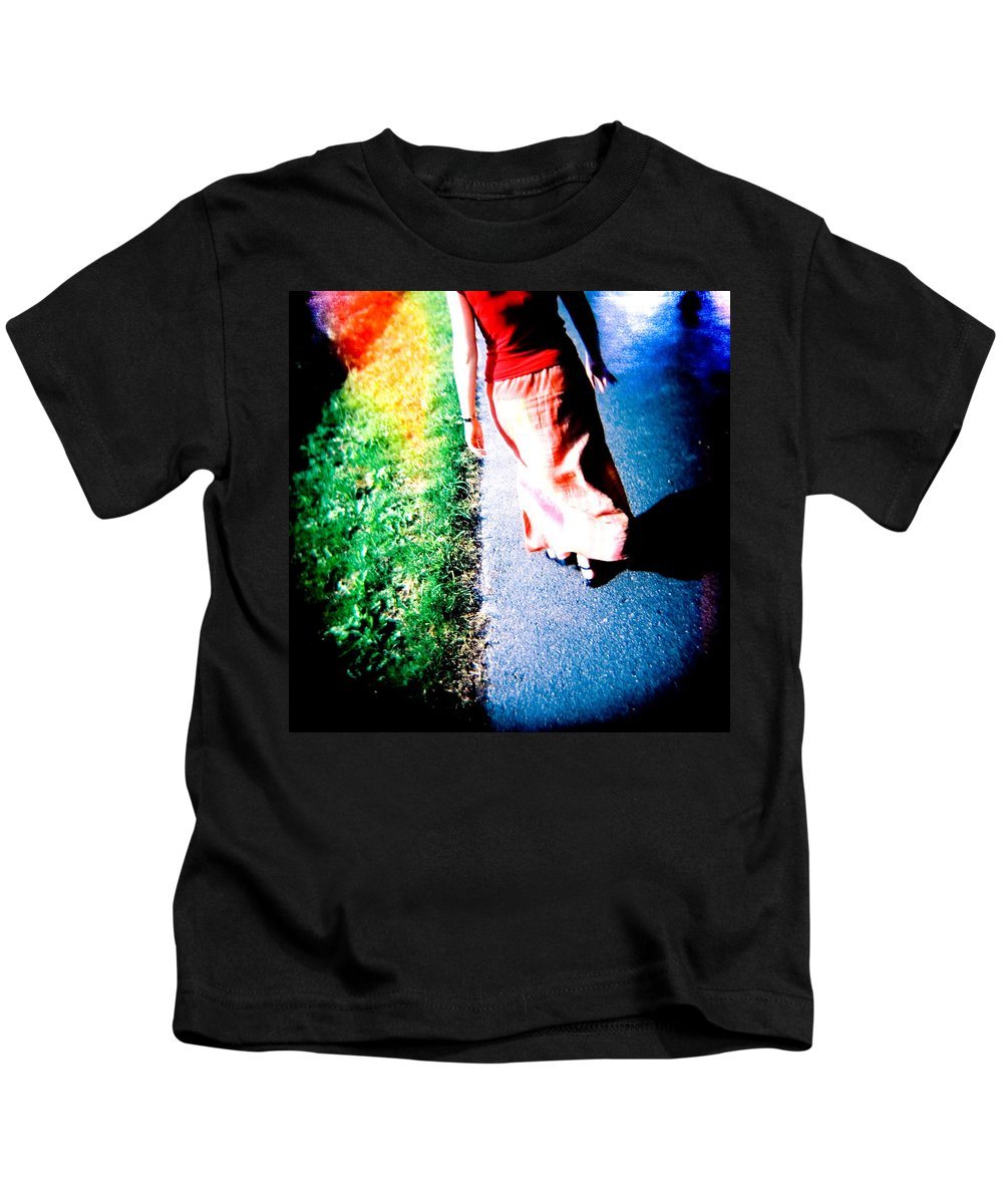 Color Photograph Holga Kids T-Shirt featuring the photograph Gone by Olivier De Rycke