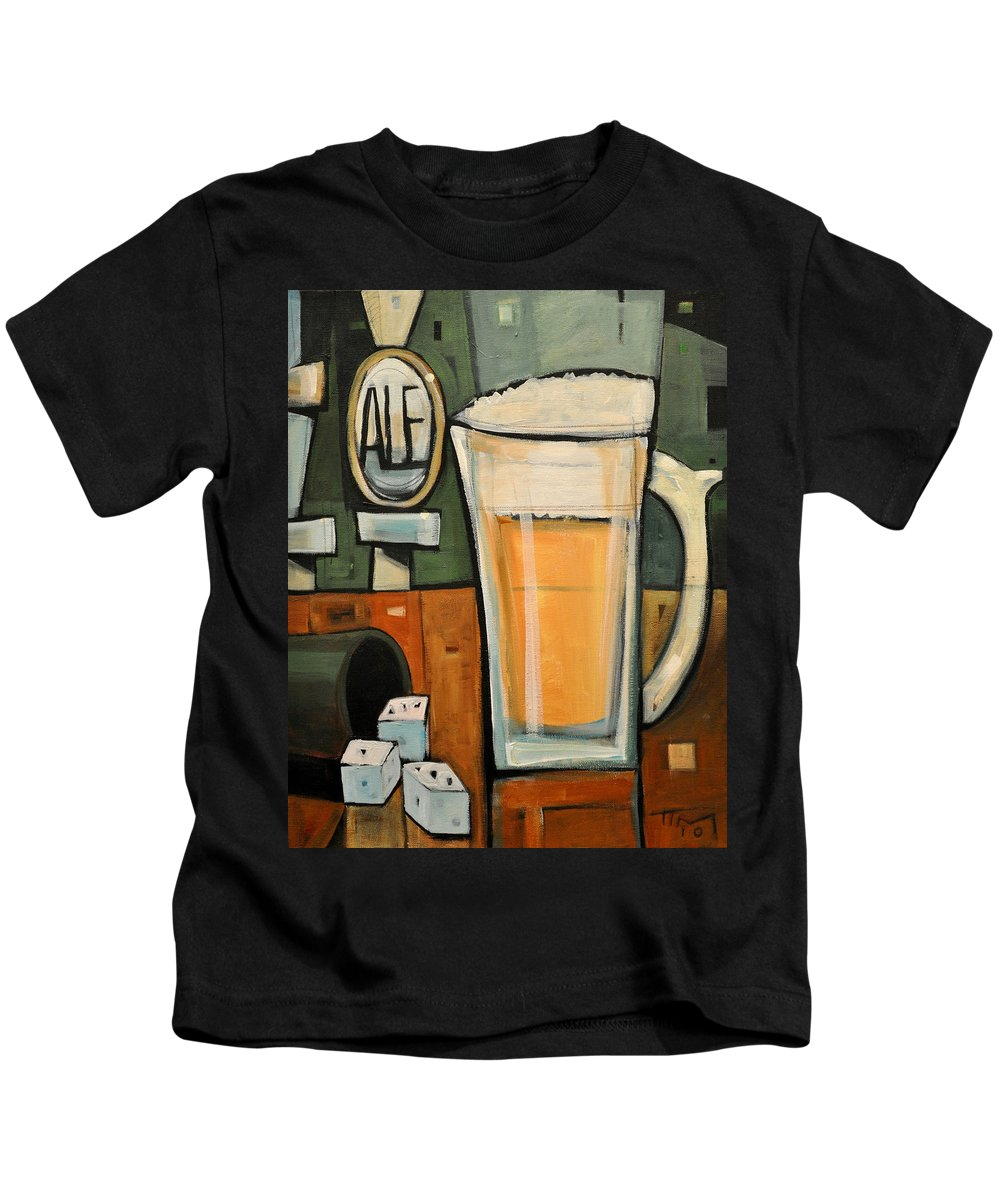 Beer Kids T-Shirt featuring the painting Good For What Ales You by Tim Nyberg