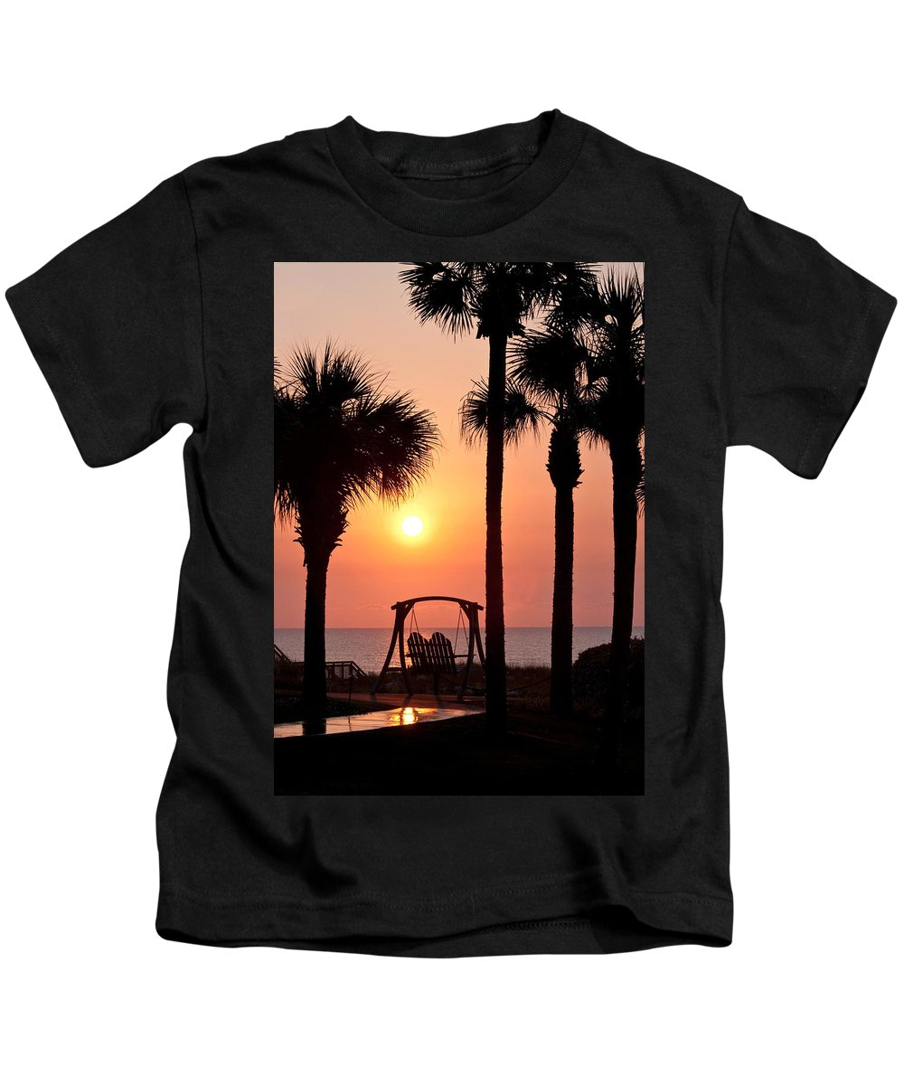 Sunrise Kids T-Shirt featuring the photograph Good Morning by Steven Sparks