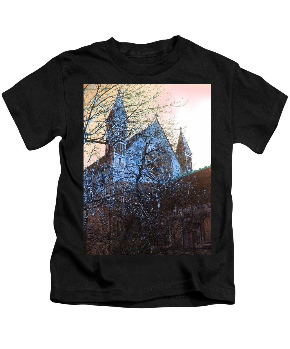 Scotland Kids T-Shirt featuring the photograph Gothic Church by Heather Lennox