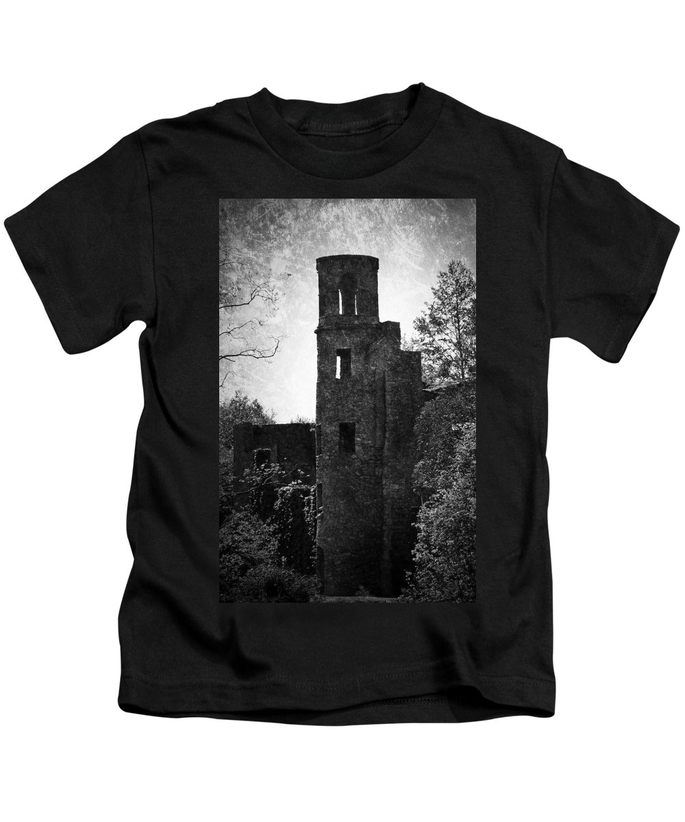 Irish Kids T-Shirt featuring the photograph Gothic Tower At Blarney Castle Ireland by Teresa Mucha
