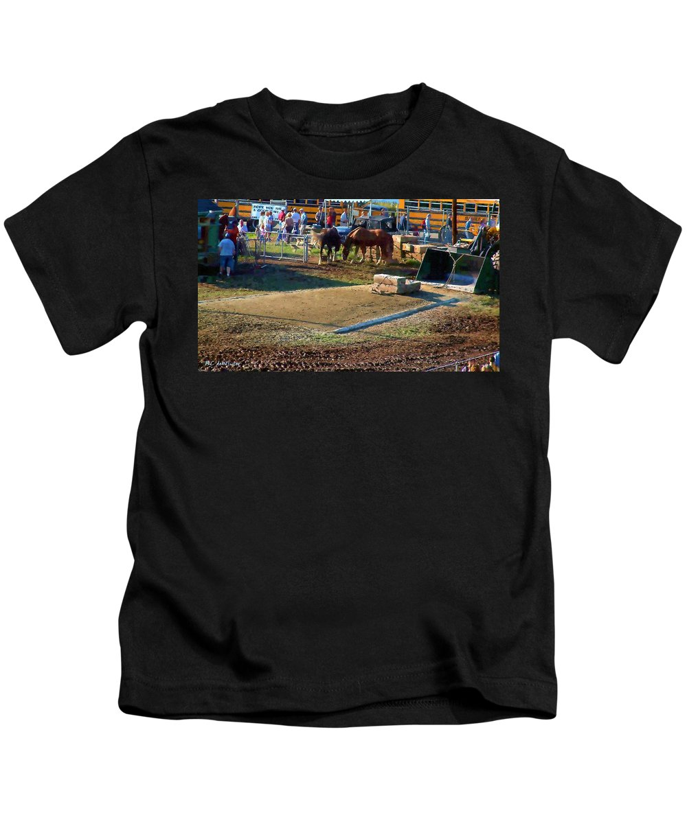 Agricultural Kids T-Shirt featuring the painting Grading The Ring by RC DeWinter