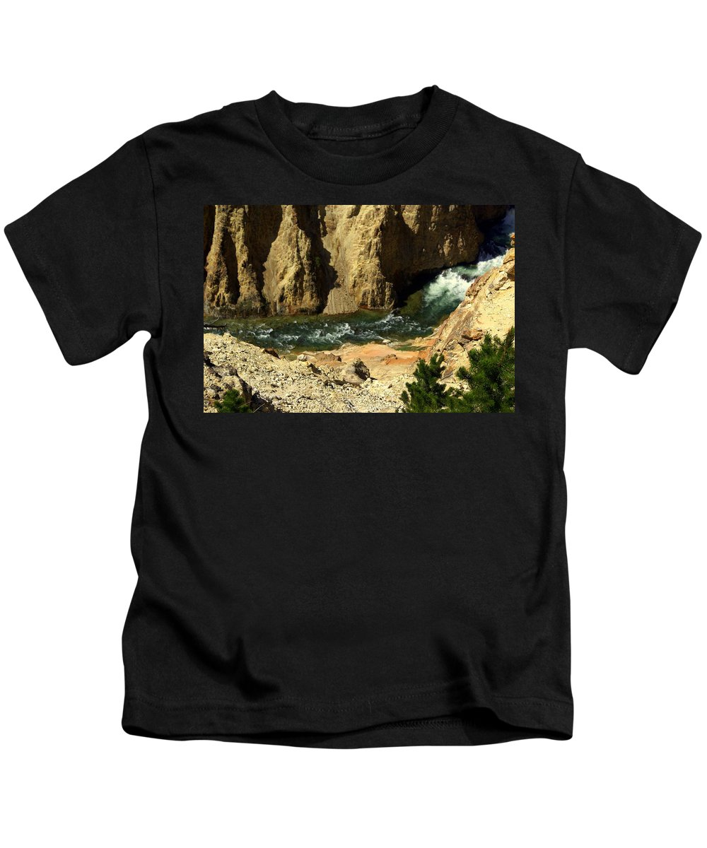Yellowstone National Park Kids T-Shirt featuring the photograph Grand Canyon Of The Yellowstone 3 by Marty Koch