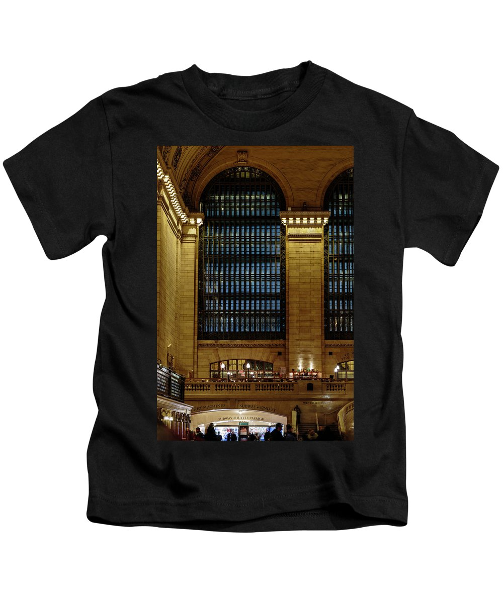 Nyc Kids T-Shirt featuring the photograph Grand Central Terminal Window Details by Charles A LaMatto