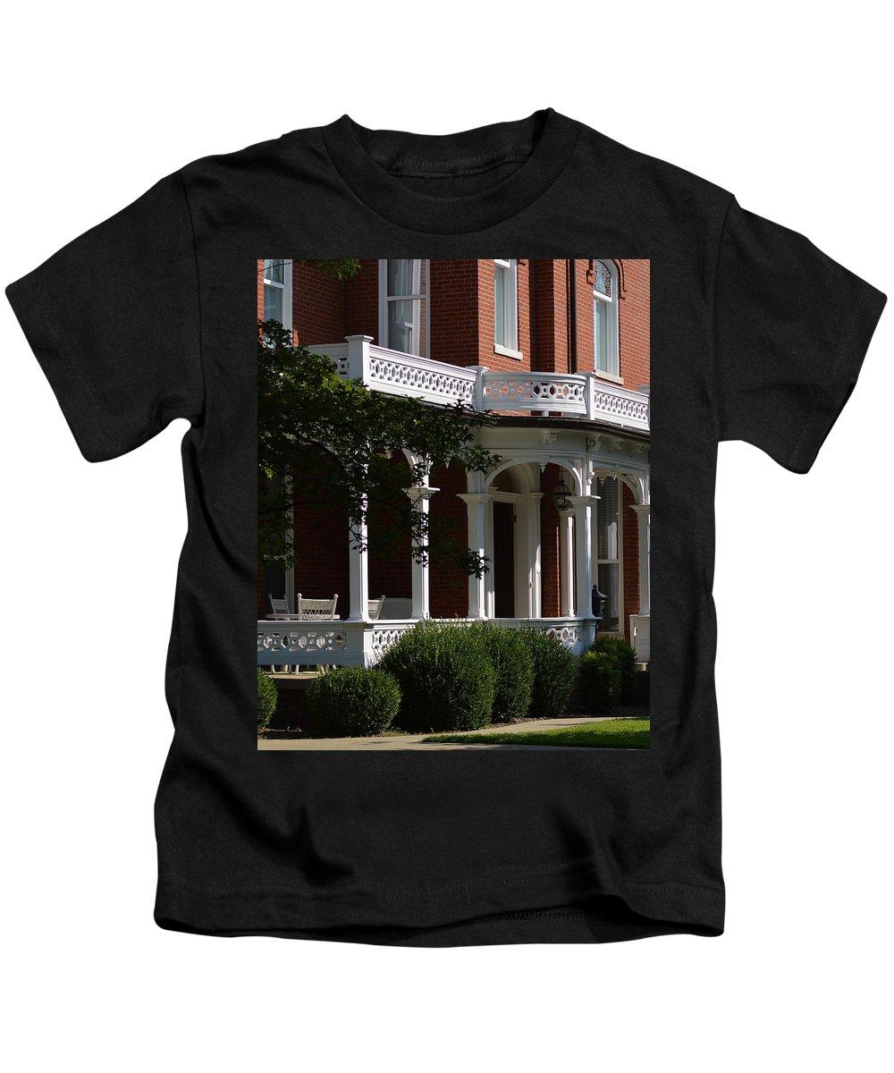 House Kids T-Shirt featuring the photograph Grand Facade by Belinda Stucki