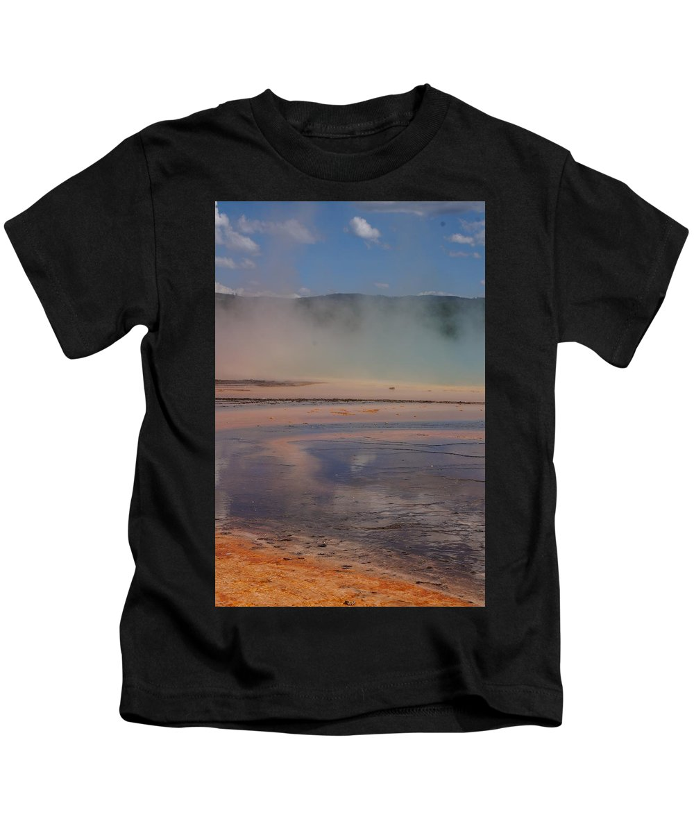 Landscape Kids T-Shirt featuring the photograph Grand Prismatic In Yellowstone Park by Josie Spencer
