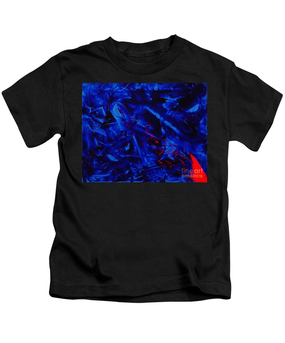 Abstract Kids T-Shirt featuring the painting Grandma IIi by Dean Triolo