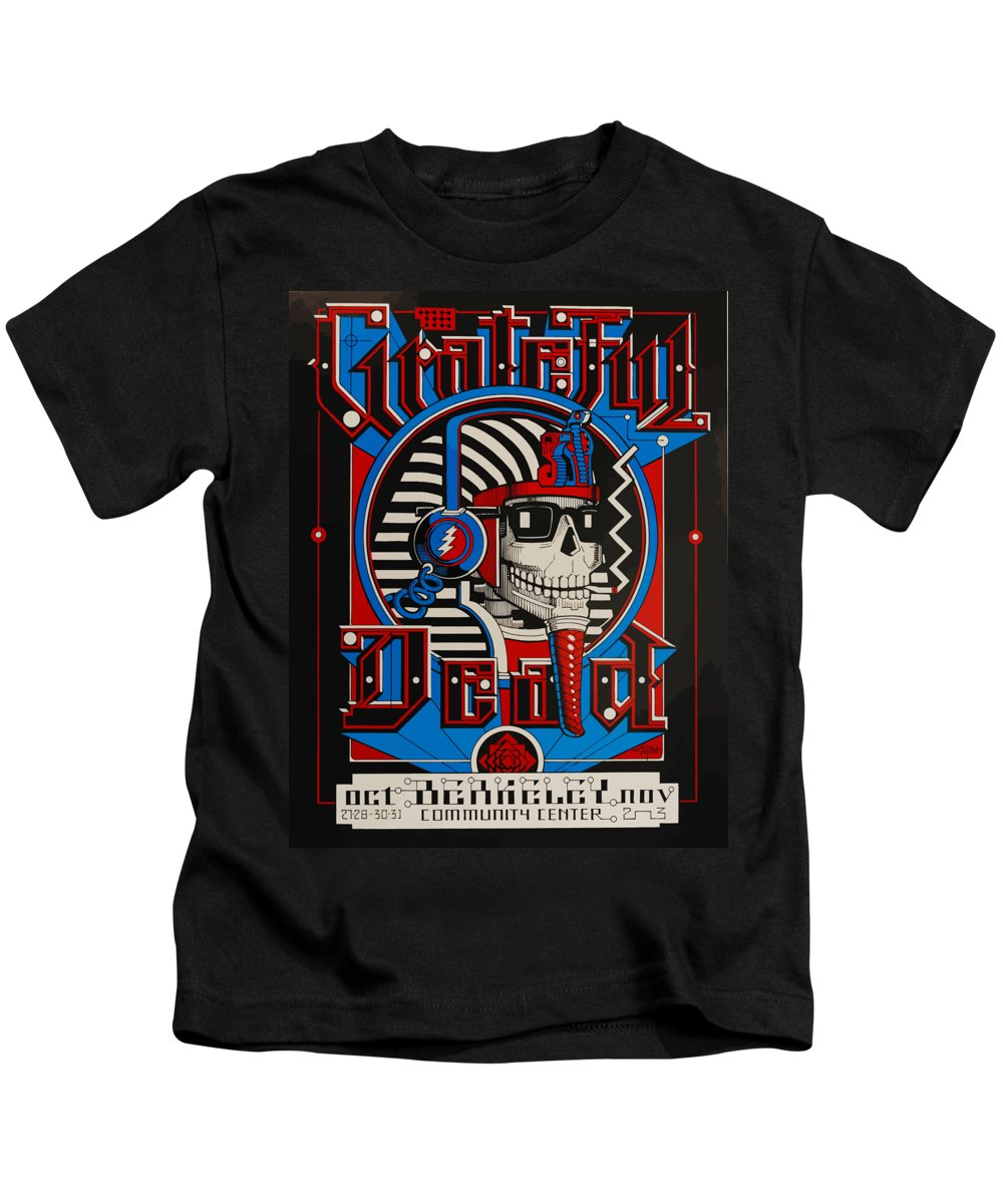 Grateful Dead Kids T-Shirt featuring the digital art Grateful Dead Berkeley by The Dead