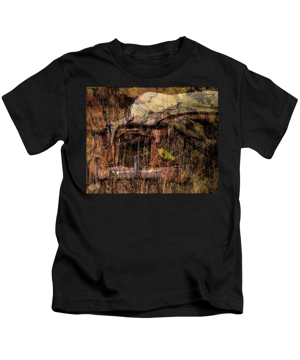 Car Kids T-Shirt featuring the photograph Graveyard by Elaine Els