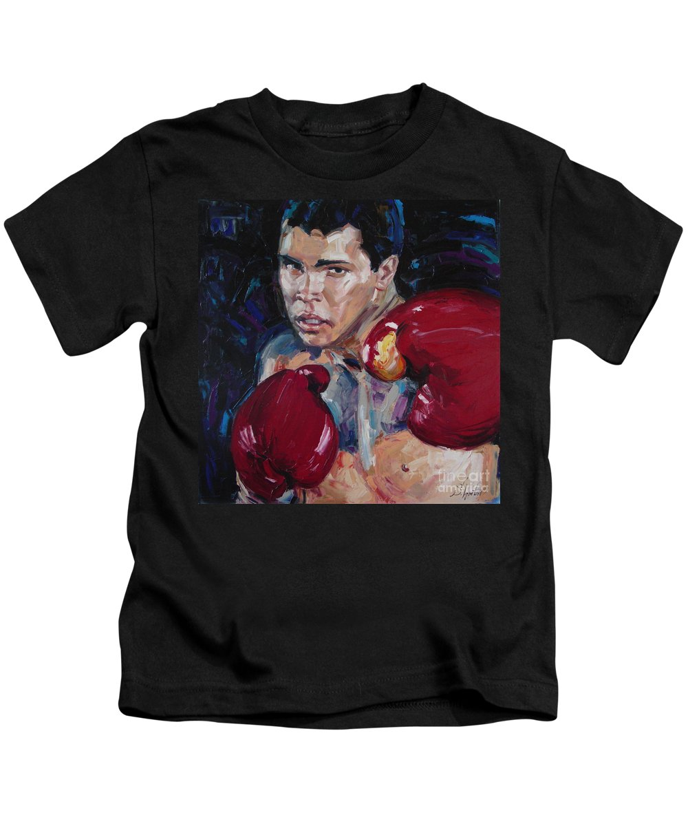 Figurative Kids T-Shirt featuring the painting Great Ali by Sergey Ignatenko