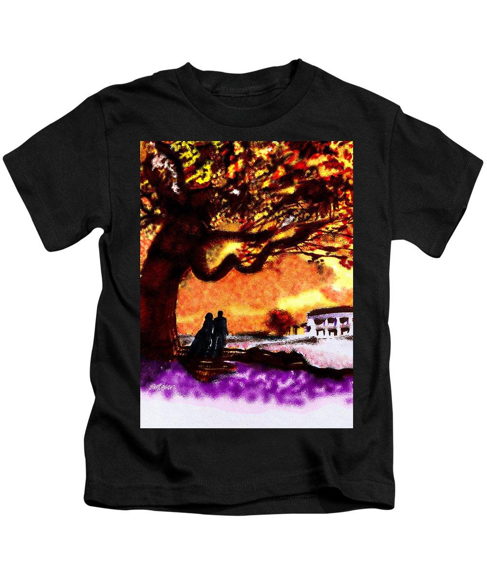 Great Oak Of Tara Kids T-Shirt featuring the digital art Great Oak Of Tara by Seth Weaver