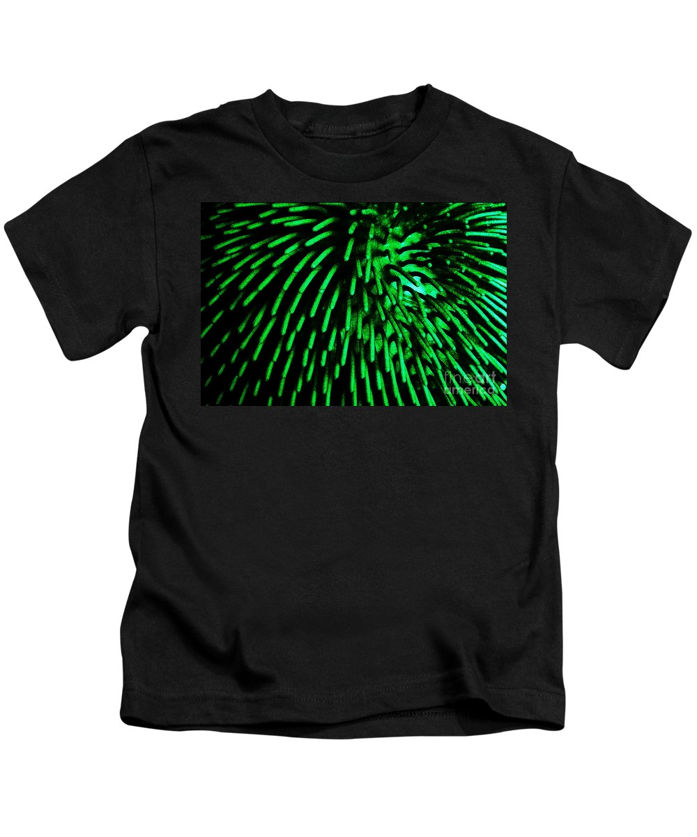 Clay Kids T-Shirt featuring the photograph Green Hairy Blob by Clayton Bruster