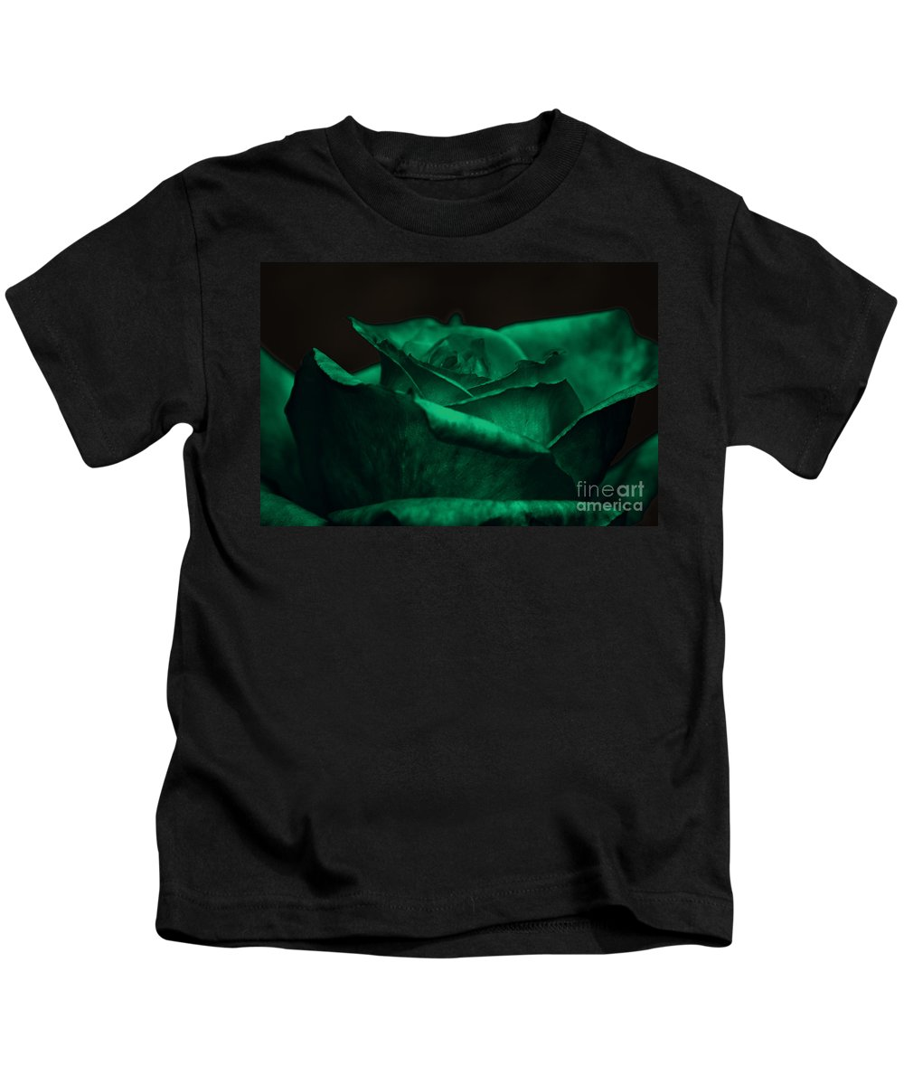 Clay Kids T-Shirt featuring the photograph Green Rose by Clayton Bruster