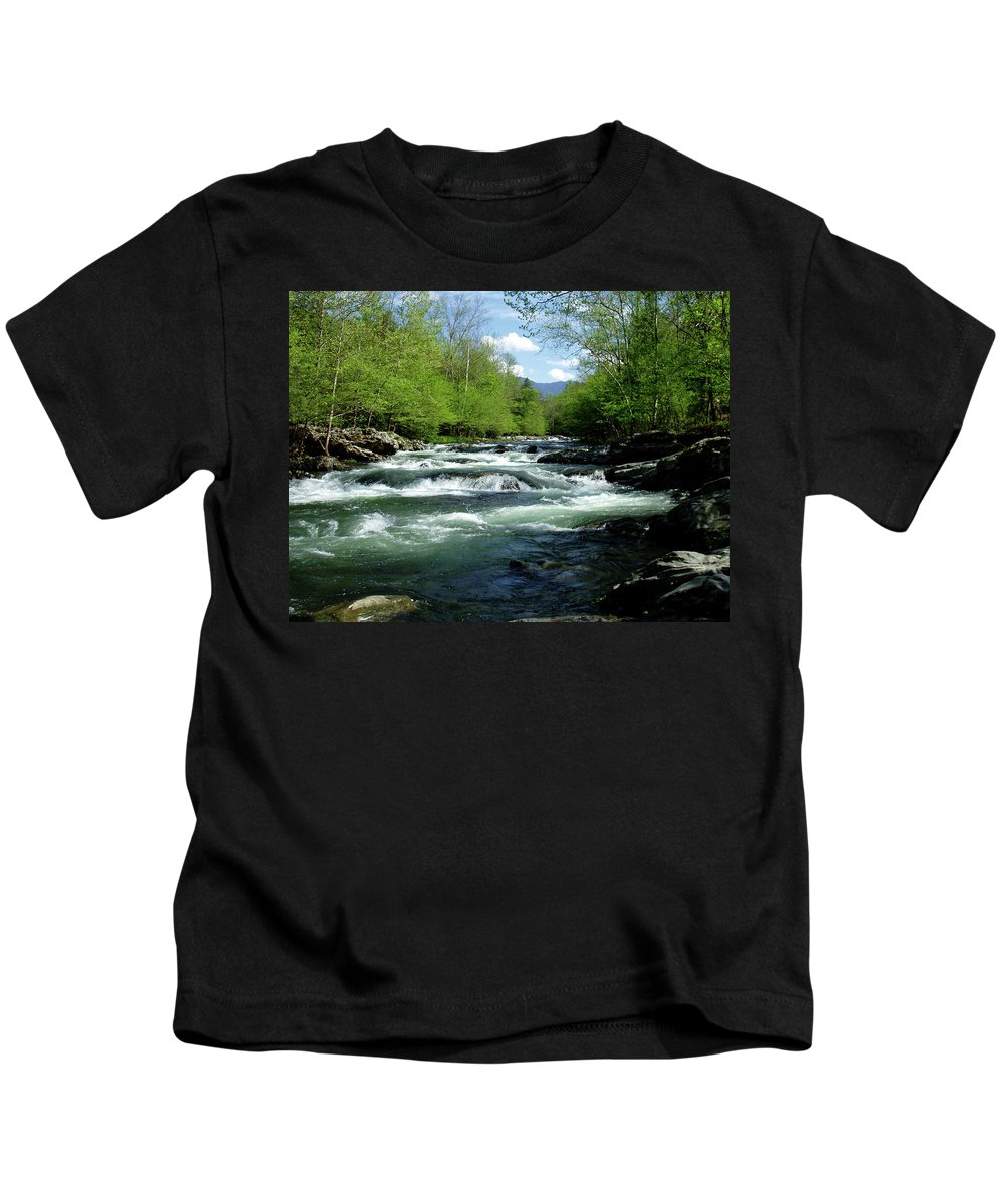 River Kids T-Shirt featuring the photograph Greenbrier River Scene by Nancy Mueller