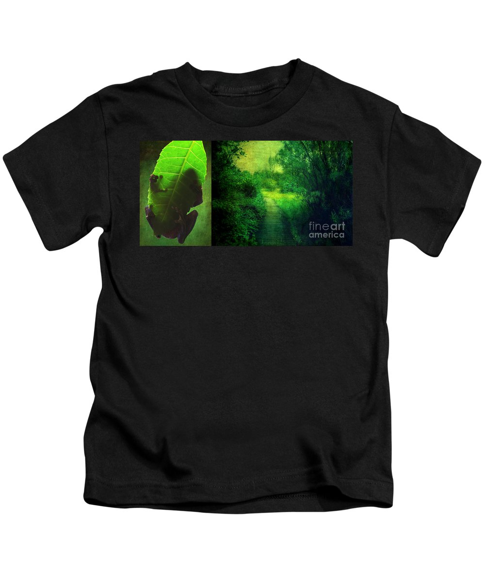 Green Canvas Prints Kids T-Shirt featuring the digital art Greens by Aimelle