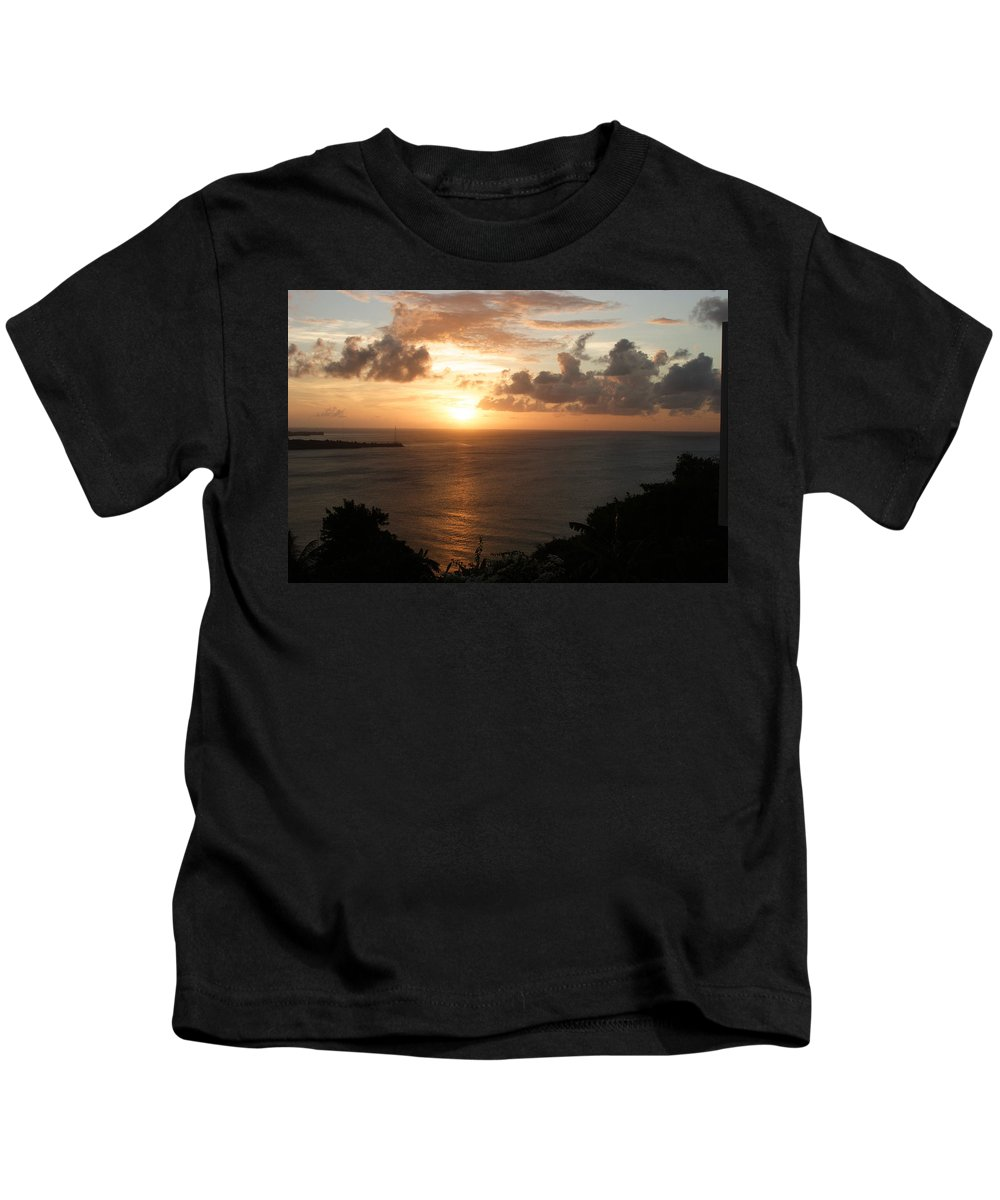 Grenada Kids T-Shirt featuring the photograph Grenadian Sunset I by Jean Macaluso