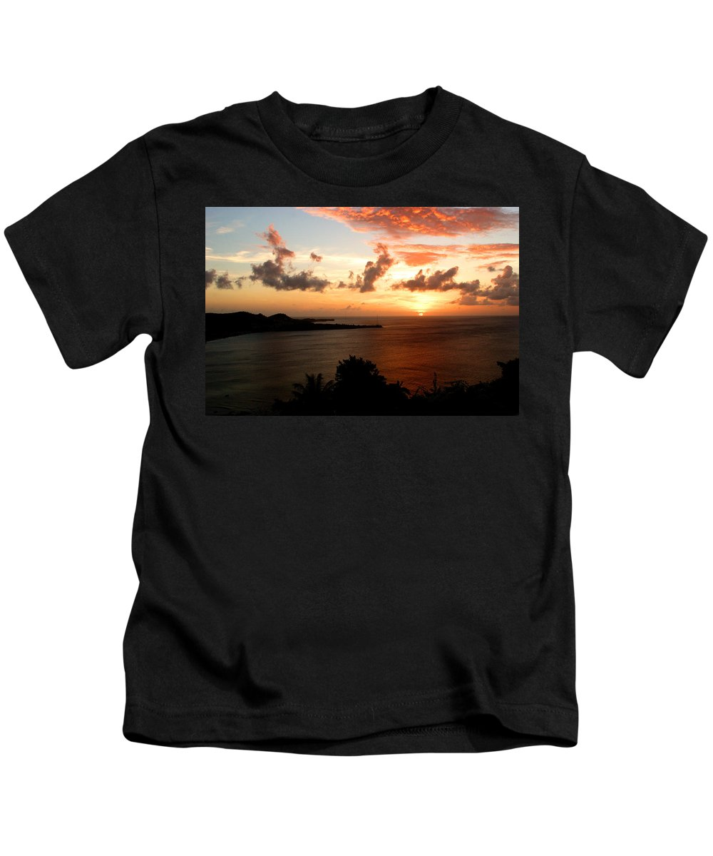 Sunset Kids T-Shirt featuring the photograph Grenadian Sunset II by Jean Macaluso