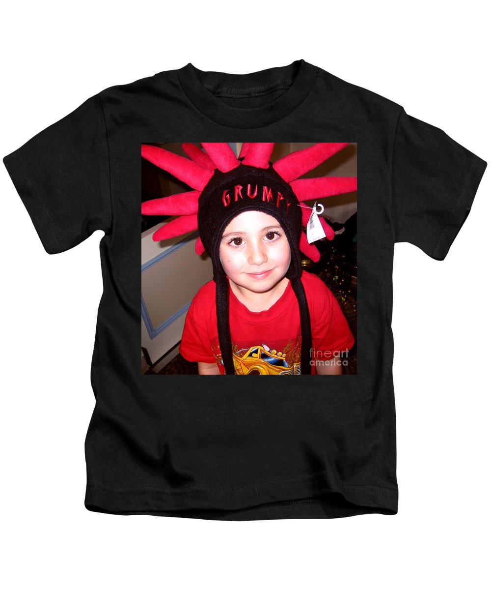 Child Kids T-Shirt featuring the photograph Grumpy by Rhonda Chase
