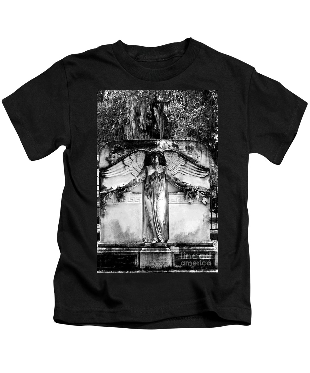 Angel Kids T-Shirt featuring the photograph Guardian Angel by Ashley O