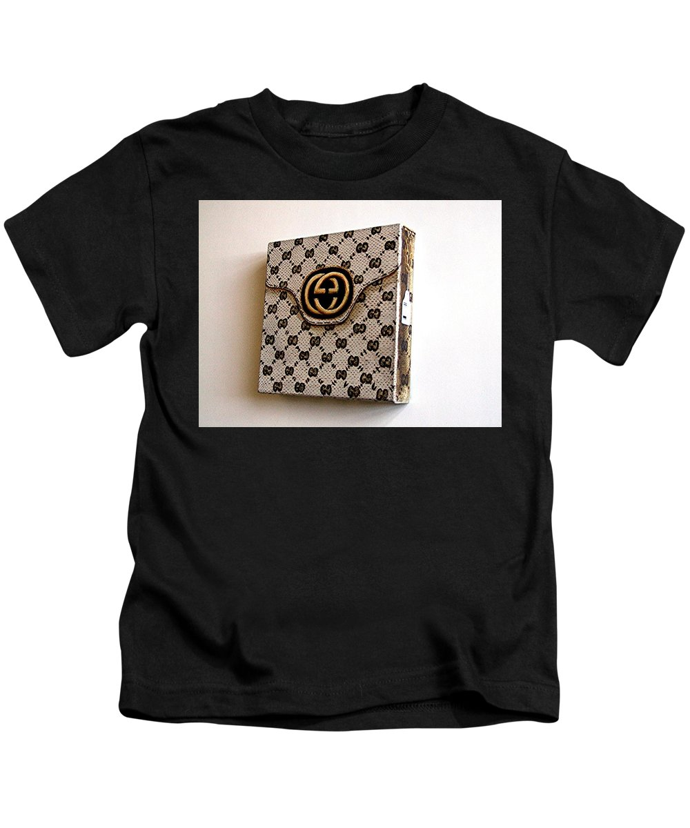 Gucci Kids T-Shirt featuring the painting Gucci Bag by Tony Gunning