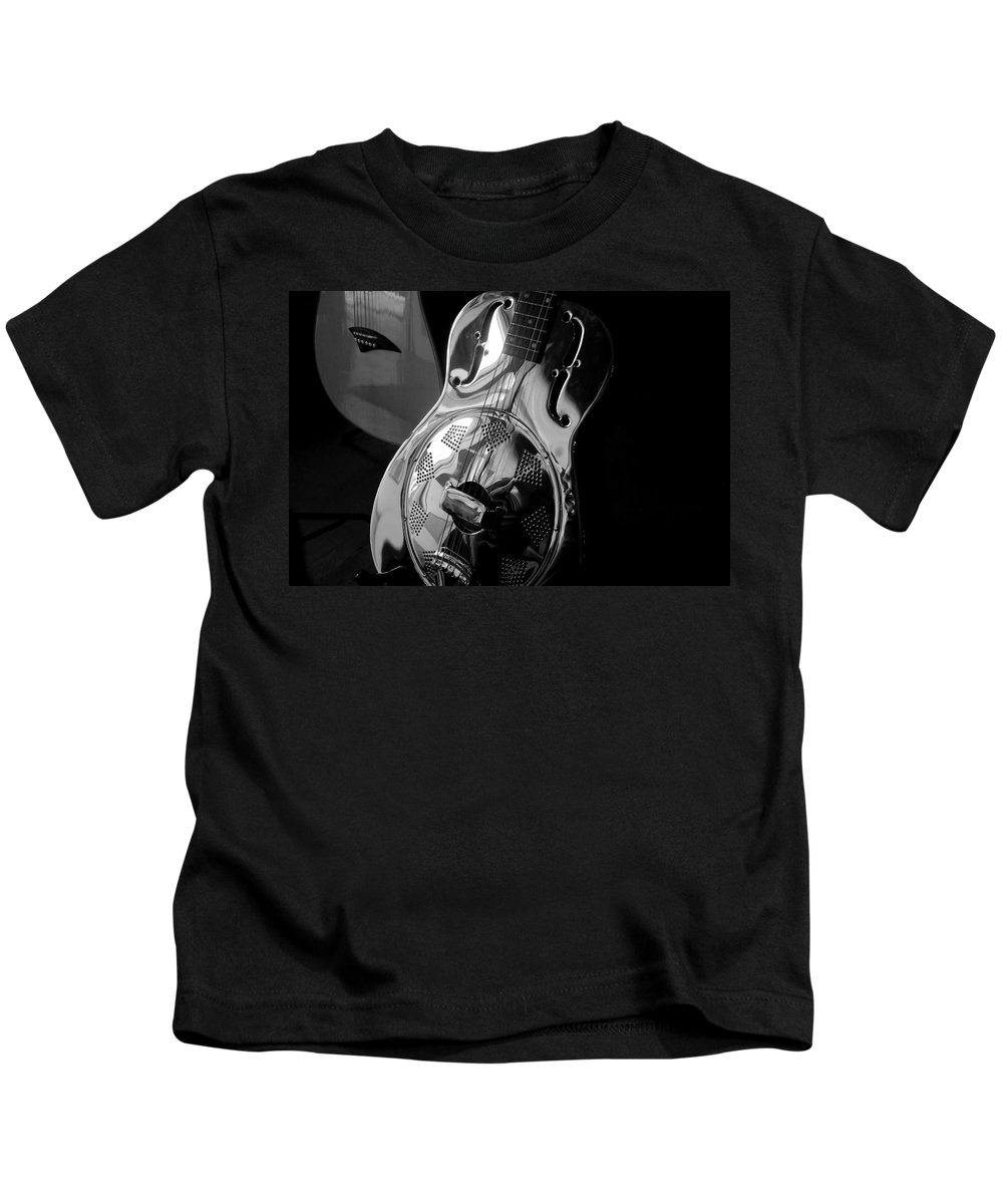 Guitars Kids T-Shirt featuring the photograph Guitars by David Lee Thompson