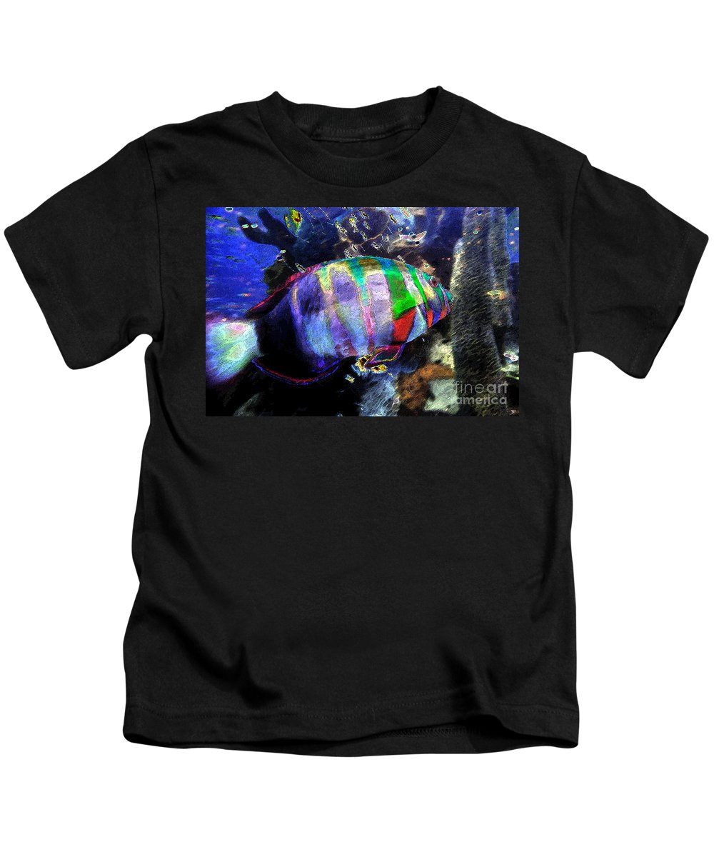 Art Kids T-Shirt featuring the painting Gulf Waters by David Lee Thompson