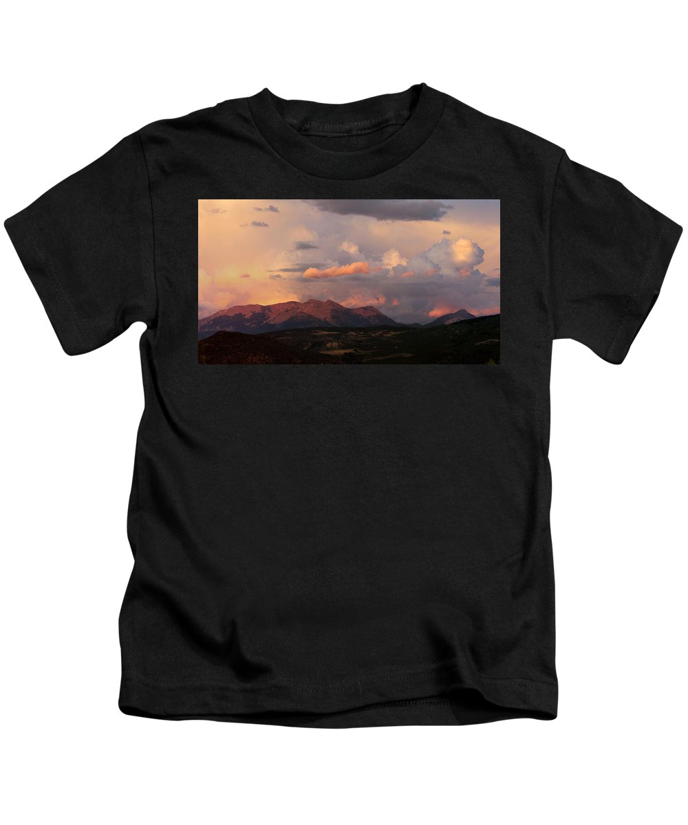 Mountain Kids T-Shirt featuring the photograph Gunnison Sunset by Samantha Burrow