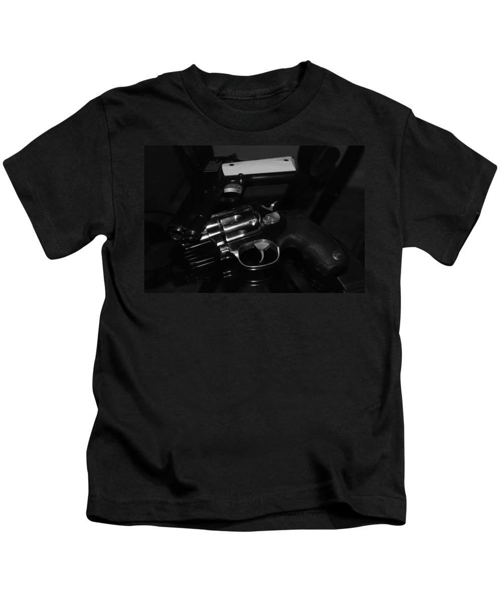 Guns Kids T-Shirt featuring the photograph Guns And More Guns by Rob Hans