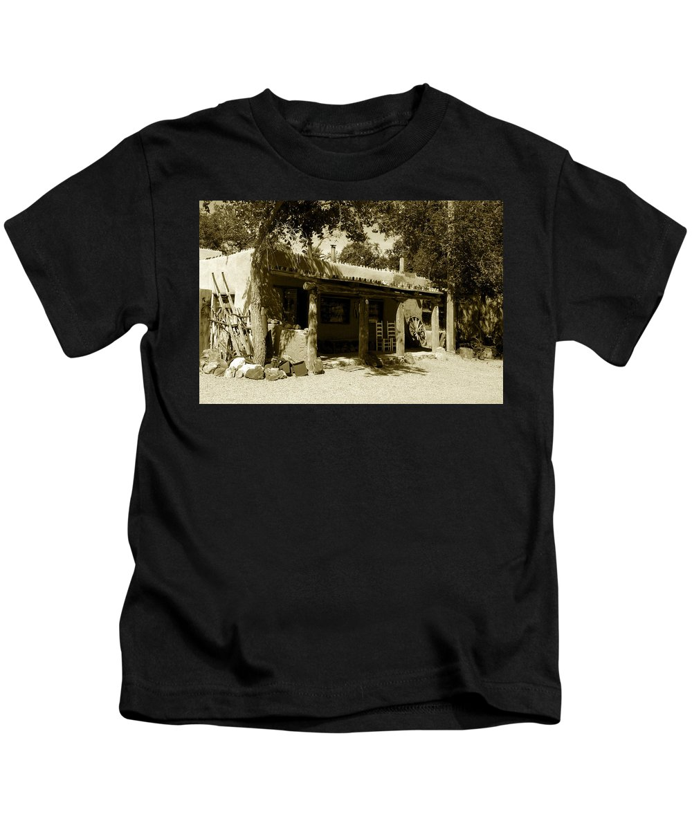 Hacienda Kids T-Shirt featuring the photograph Hacienda by David Lee Thompson