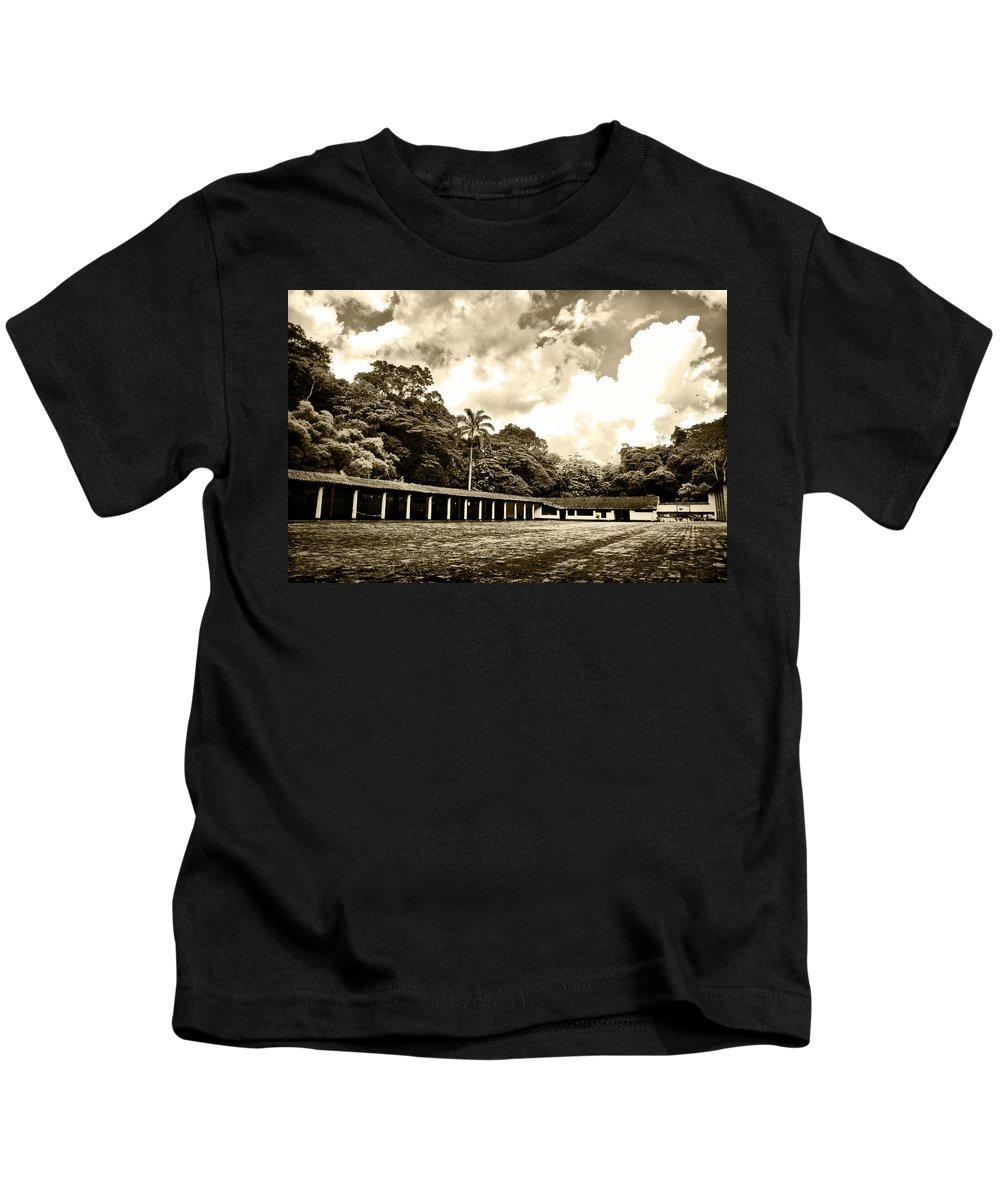 Colonial House Kids T-Shirt featuring the photograph Hacienda La Elvira by Galeria Trompiz