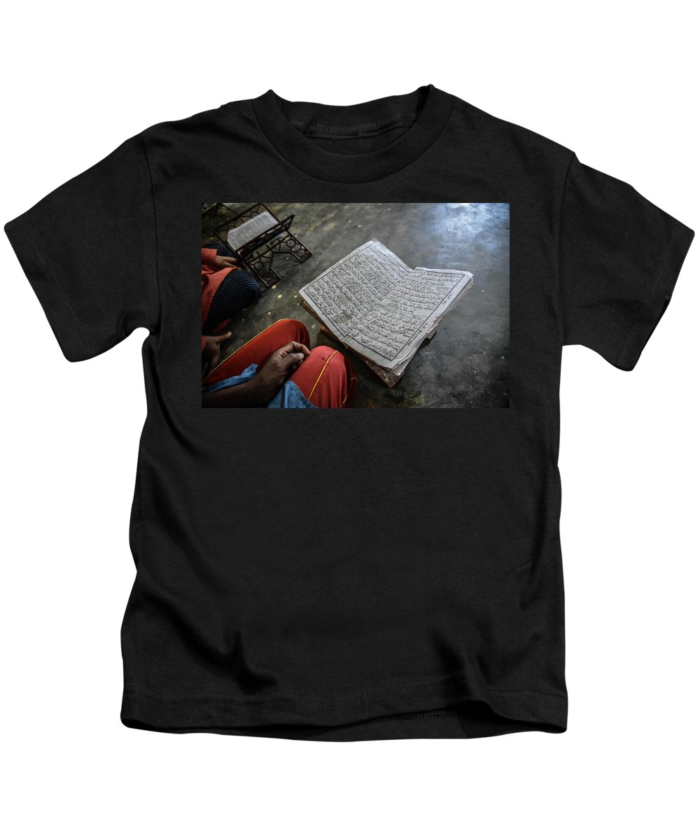 Kids T-Shirt featuring the photograph Hafiz In Village by Andrew Day Photography