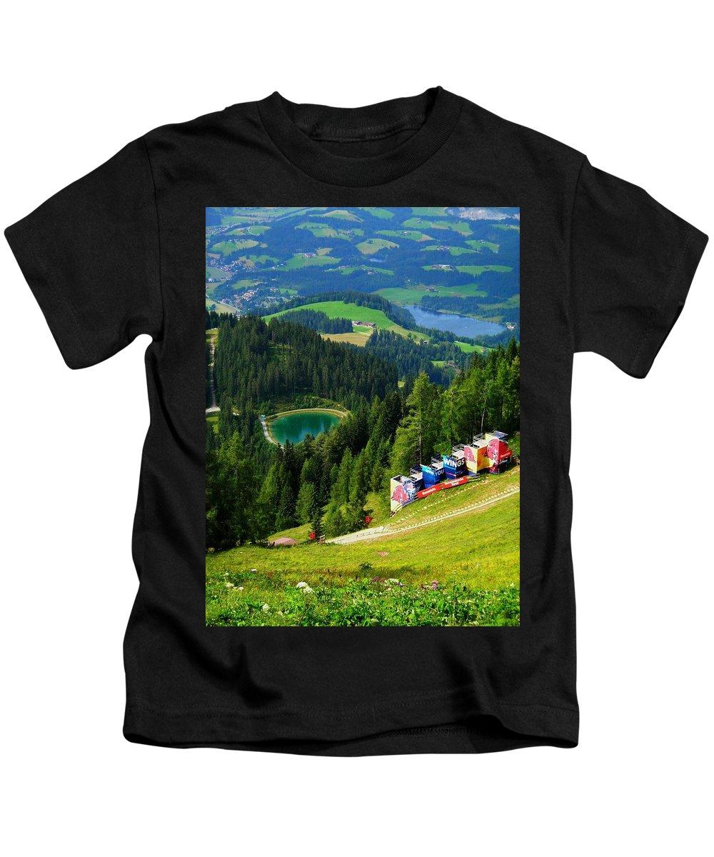 Europe Kids T-Shirt featuring the photograph Hahnenkamm - Kitzbuehel by Juergen Weiss
