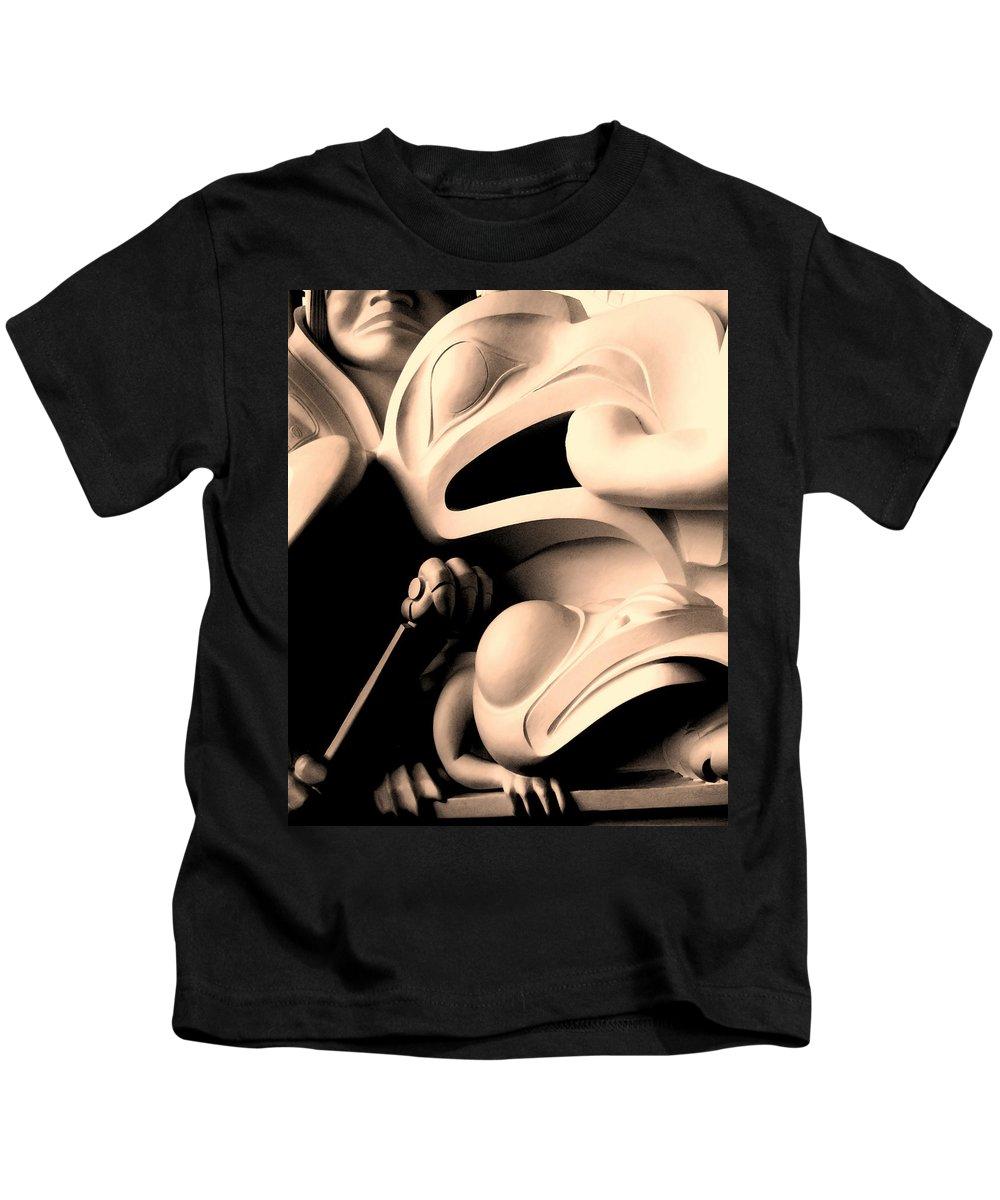 Haida Kids T-Shirt featuring the photograph Haida Two by Ian MacDonald