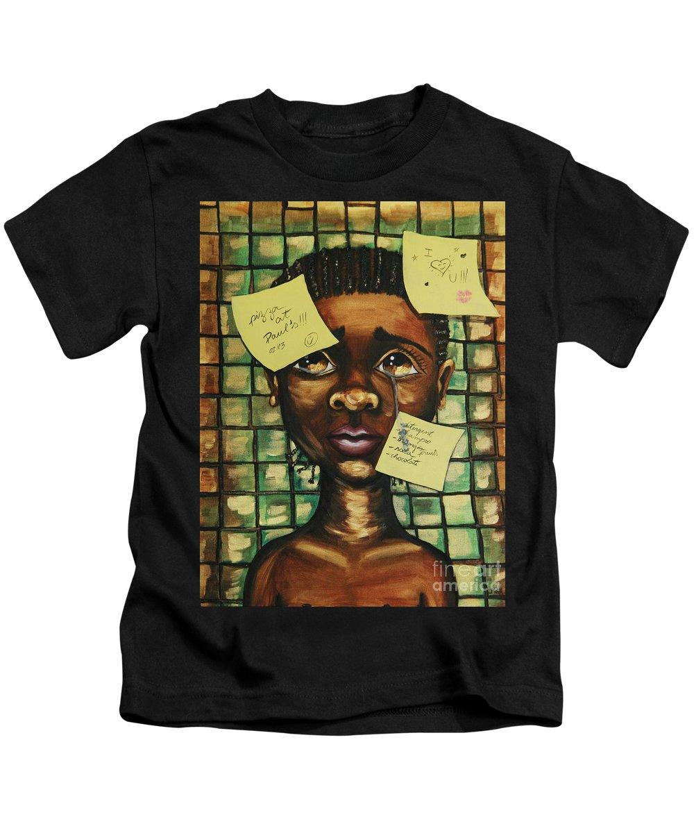 Child Kids T-Shirt featuring the painting Haiti 2010 by Cris Motta