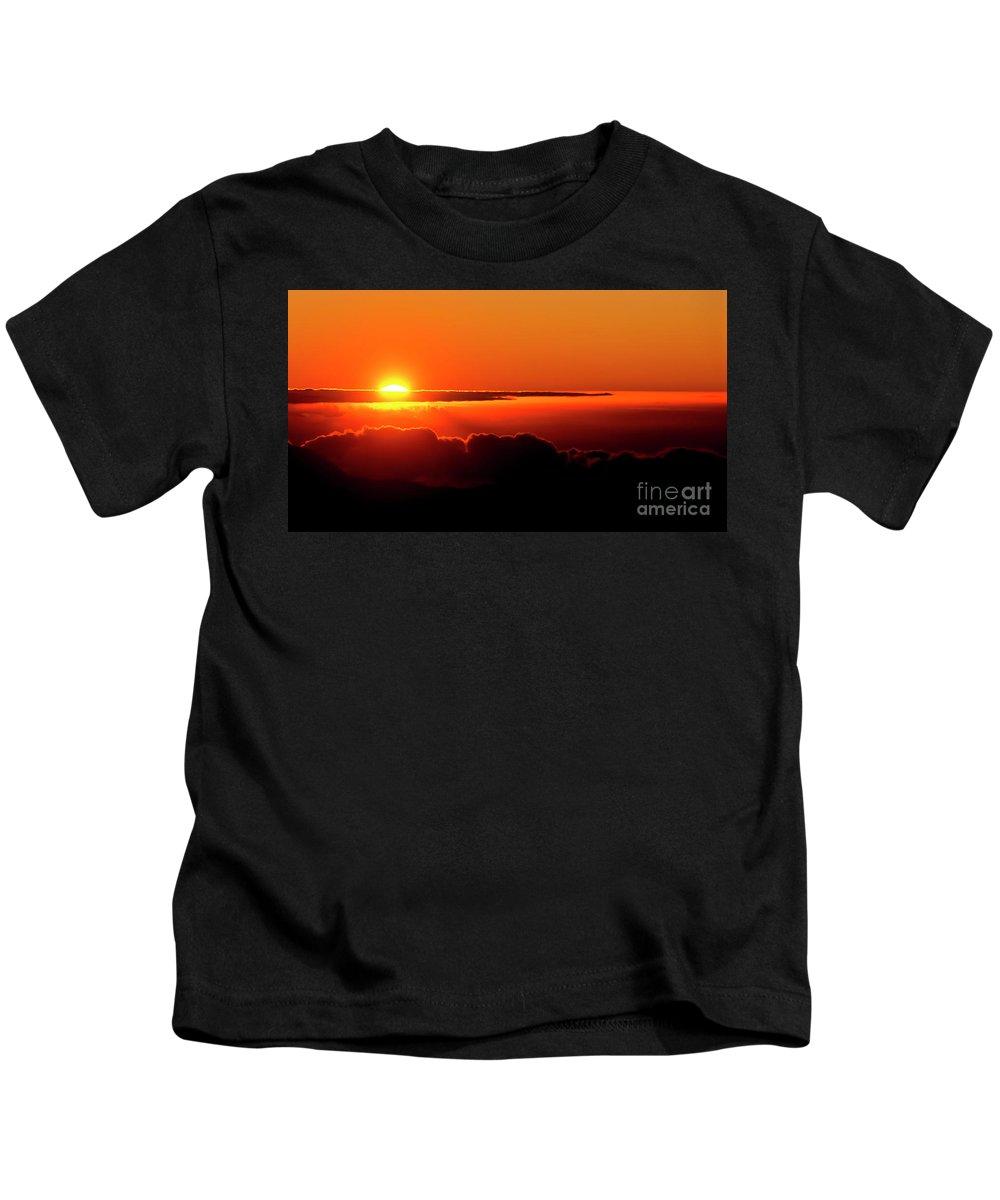Sunrise Kids T-Shirt featuring the photograph Maui Hawaii Haleakala National Park Sunrise IIi by Jim Cazel