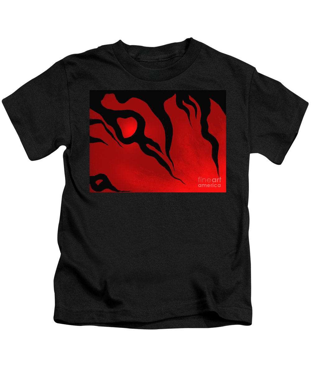 Abstract Art Kids T-Shirt featuring the digital art Halloween Mood. Emotions by Sofia Metal Queen