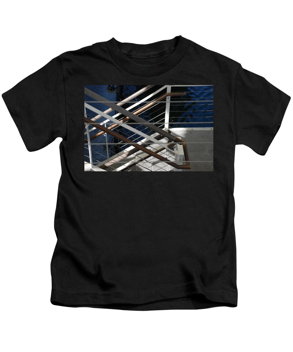 Water Kids T-Shirt featuring the photograph Hand Rails by Rob Hans