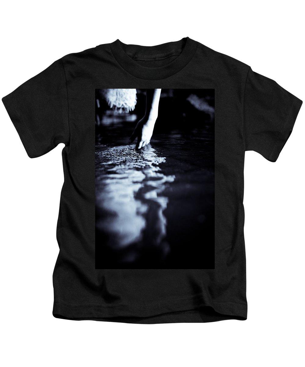 Stream Kids T-Shirt featuring the photograph Hand Ripple by Scott Sawyer