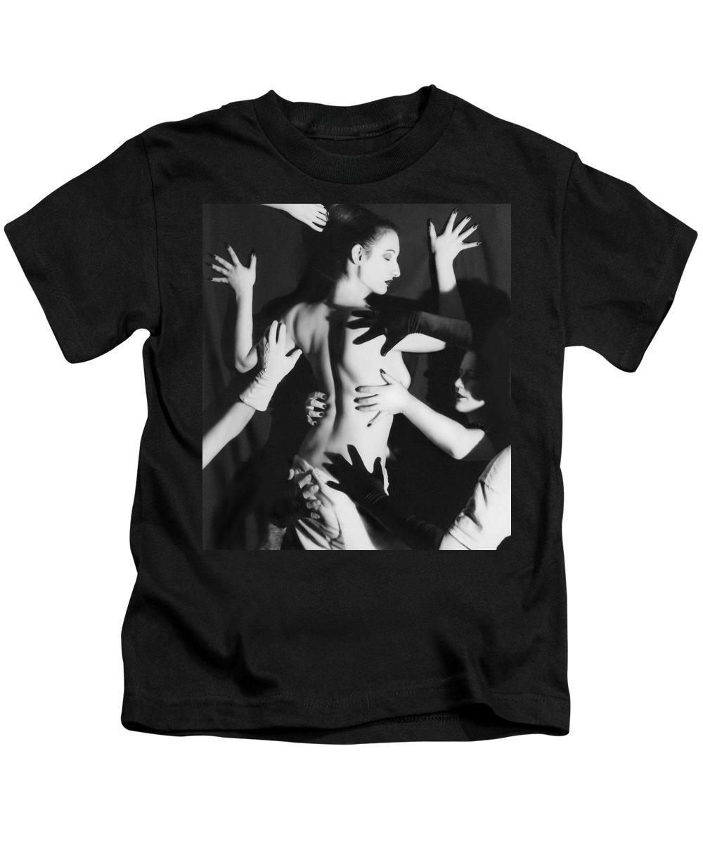 Survivor Art Kids T-Shirt featuring the photograph Hands Upon Me by Jaeda DeWalt